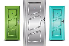 3款精美防盗门设计矢量素材