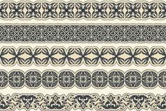 6款黑色装饰花边设计矢量素材