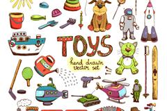 32款彩绘玩具矢量素材