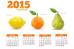 2015年清新水果年历矢量素材