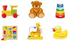 9款卡通玩具设计矢量素材