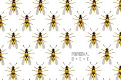 黄色蜜蜂无缝背景矢量素材