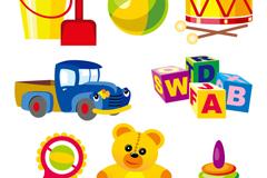 8款儿童玩具设计矢量素材