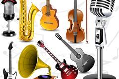 9款精美乐器设计矢量素材