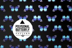 美丽蝴蝶无缝背景矢量素材