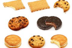 8款美味饼干设计矢量素材