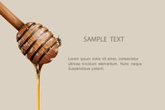 精美蜂蜜搅拌棒背景矢量素材