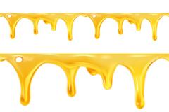 动感液态蜂蜜设计矢量素材