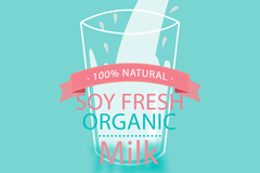 纯天然牛奶背景矢量素材