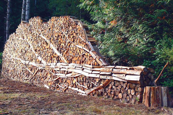 堆木材堆成这样 你家里人造么