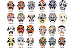60款京剧脸谱设计矢量素材