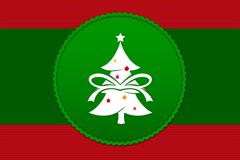 精美圣诞树背景矢量素材