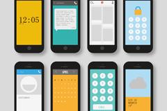 8款智能手机设计矢量素材