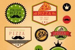 10款彩色披萨标签矢量素材