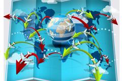 创意环球旅行信息图矢量素材