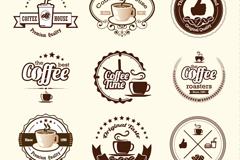 9款棕色咖啡标签设计矢量素材