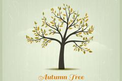 素雅秋季树木背景矢量素材