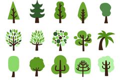 20款卡通树木设计矢量素材