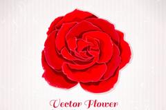 复古红色玫瑰花背景矢量素材
