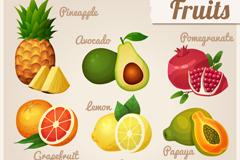 9款卡通水果设计矢量素材
