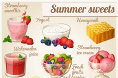9款美味夏日甜点矢量素材