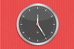 精美时钟背景矢量素材