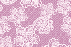 白蕾丝花卉紫底背景矢量素材
