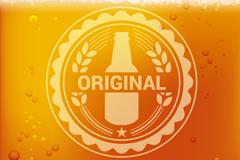 圆形标签啤酒背景矢量素材