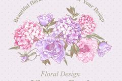 素雅手绘花卉背景矢量素材