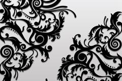 精致黑色对角花纹背景矢量素材