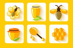 9款精美蜂蜜元素图标矢量素材