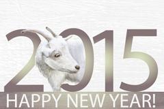 2015创意绵羊头背景矢量素材