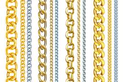 12款金属链条设计矢量素材