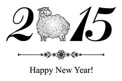 2015简洁绵羊背景矢量素材