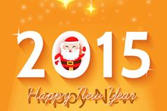 2015橘色圣诞节卡片矢量素材
