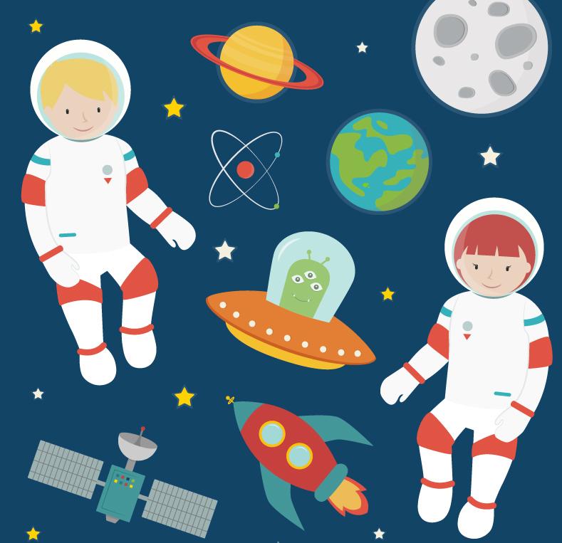 素材 探险/ai格式,含jpg预览图,关键字:宇航员,外星人,飞碟,行星,月球