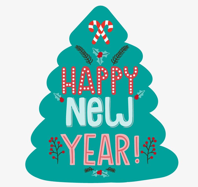 创意新年快乐艺术字矢量素材图片