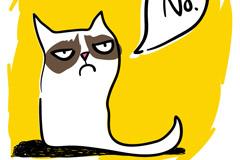 彩绘说不猫咪矢量素材