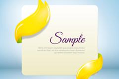 黄色丝带环绕卡片设计矢量素材