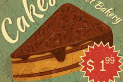 复古蛋糕海报矢量素材