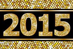金色圆点2015艺术字矢量素材