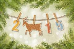 松枝2015节日海报矢量素材