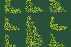 8款圣诞装饰边角花纹矢量素材