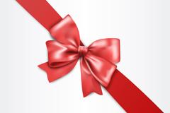 精美红色蝴蝶结丝带矢量素材