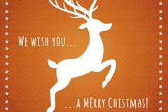白色圣诞麋鹿矢量素材