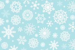 白色雪花蓝底背景矢量素材