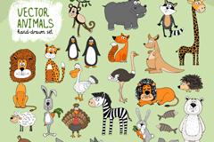 26款手绘动物设计矢量素材