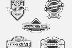 5款复古产品标签设计矢量素材