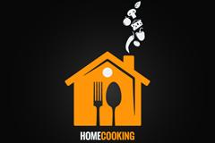 创意餐厅菜单logo设计矢量素材