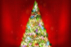抽象霓虹针织圣诞树矢量素材